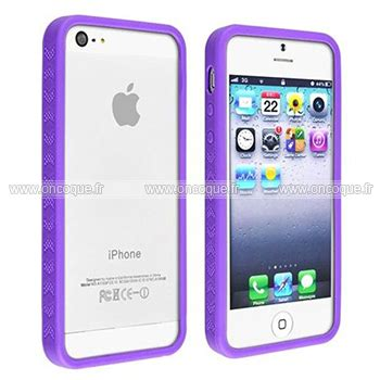 coque apple iphone 5s cadre silicone housse gel pourpre