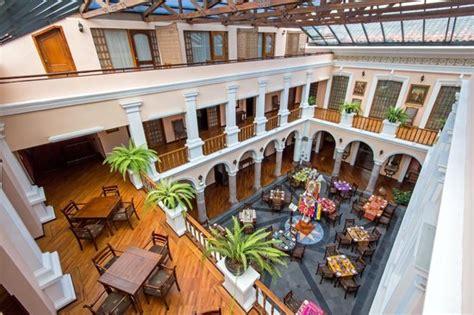 hotel facade picture of hotel patio andaluz quito