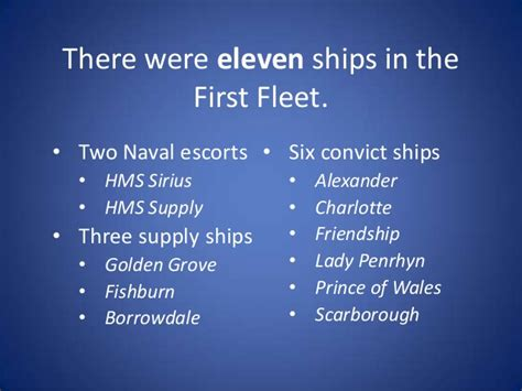 Boat Names Of The First Fleet by Australia Day