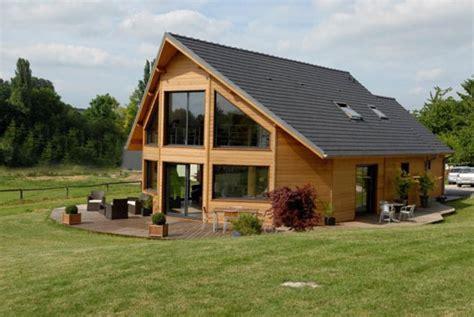 maison kit bois de r 234 ve toit plat
