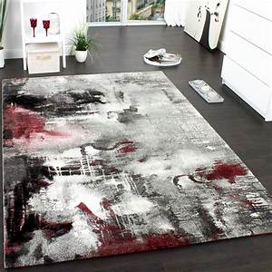Türkische Teppiche Modern : teppich modern designer teppich leinwand optik meliert schattiert grau rot creme wohn und ~ Markanthonyermac.com Haus und Dekorationen