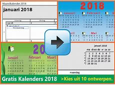 Kalender2018gratisdownloadjaarkalendermaandka by