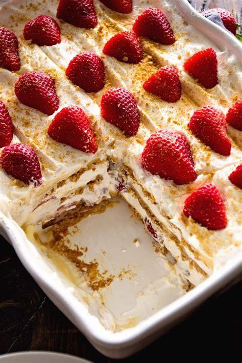 best 25 strawberry icebox cake ideas on easy bake cake honey grahams and icebox