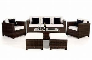 Rattan Gartenmöbel Braun : rattan gartenm bel lounge luxury deluxe 3er sofa braun ~ Markanthonyermac.com Haus und Dekorationen