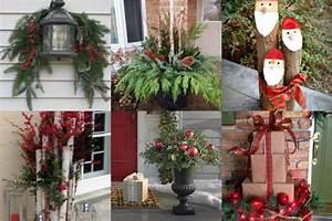 Haus Weihnachtlich Dekorieren : h bsche weihnachtliche diy dekorationen f r drau en ~ Markanthonyermac.com Haus und Dekorationen