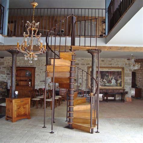 escalier en fer forg 233 et bois sur mesure