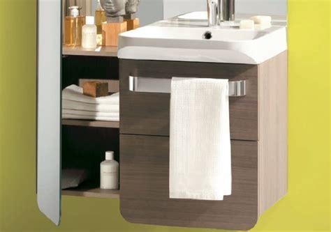meuble salle de bain suspendu cedeo photo 5 15 meuble 2 tiroirs en stratifi 233 bois gris plan