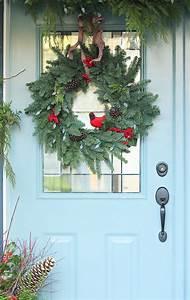 Weihnachtskranz Für Tür : herrliche weihnachtsdeko drau en platzieren die veranda festlich schm cken veranda ~ Markanthonyermac.com Haus und Dekorationen