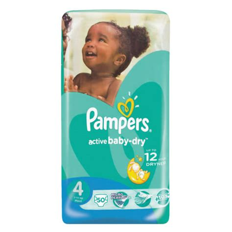 pers active baby disposable nappies size 4 50 nappies clicks