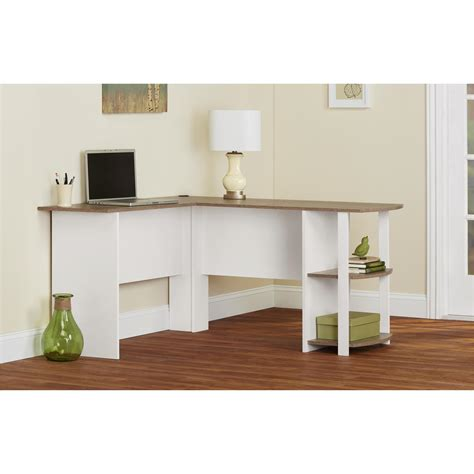 Ameriwood Computer Desk With Shelves Brown by Ameriwood Furniture L Shaped Desk With 2 Shelves In