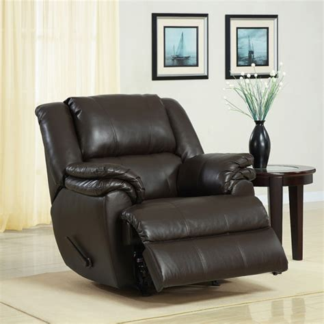 Recliner Chair Walmart by Ashford Padded Rocker Recliner Brown Faux Leather