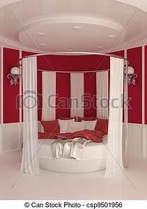 Vorhang über Bett : stock illustration von inneneinrichtung vorhang modern runder bett round csp9501956 ~ Markanthonyermac.com Haus und Dekorationen