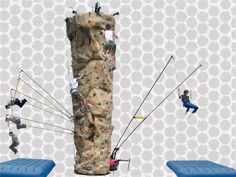 Combo Climbing Walls  Rock Climbing & Jumper System