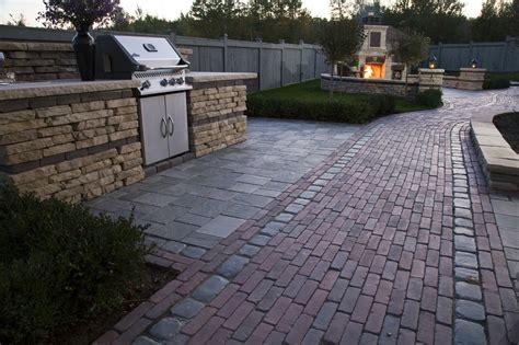 Unilock Fireplace, Outdoor Kitchen, Patio, Walkway, Wall