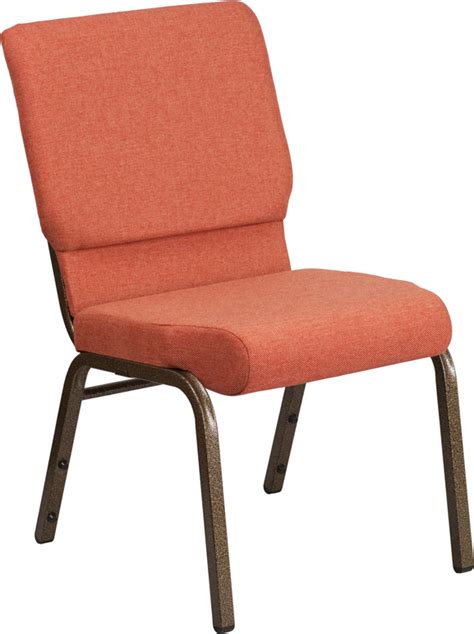 hercules series 18 5 w stacking church chair in cinnamon fabric gold vein frame fd ch02185