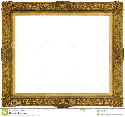 vue baroque d or d isolement sur le fond blanc photo stock image 46278322