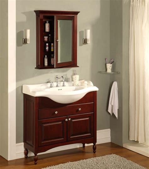 empire industries 38 quot shallow depth vanity with ceramic sinktop w38 designingdepot