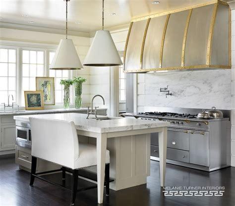 Kitchen Island With Bench  Transitional Kitchen