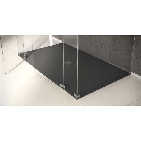 receveur de rectangulaire l 160 x l 90 cm noir kioto2 leroy merlin