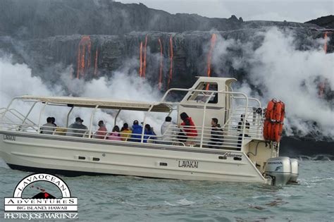 Private Lava Boat Tours Hawaii by Hawaii Volcano Tours Lava Boat Lavakai
