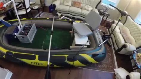 Bass Hunter Boat Modifications by Intex Seahawk 4 Fishing Boat Modifications Youtube