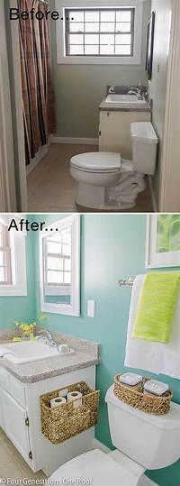 small bathroom makeovers Tiny Bath Makeovers   Decorating Your Small Space