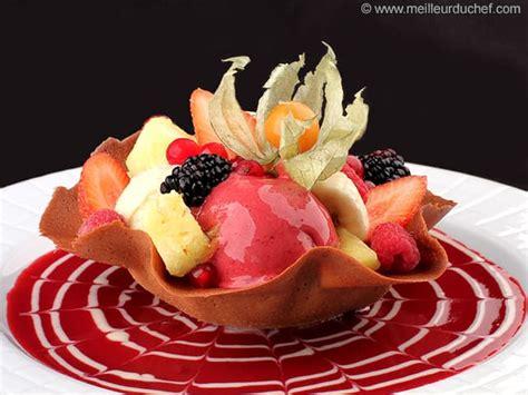 tulipe de fruits frais et sorbets fiche recette avec photos meilleurduchef
