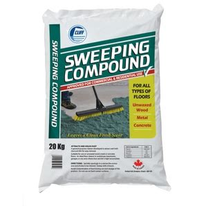 sweeping compound silica free 50lb bag
