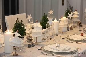 Tischdeko Für Weihnachten Ideen : weihnachtliche tischdekoration mit tortenspitzenb umchen tischlein deck dich ~ Markanthonyermac.com Haus und Dekorationen