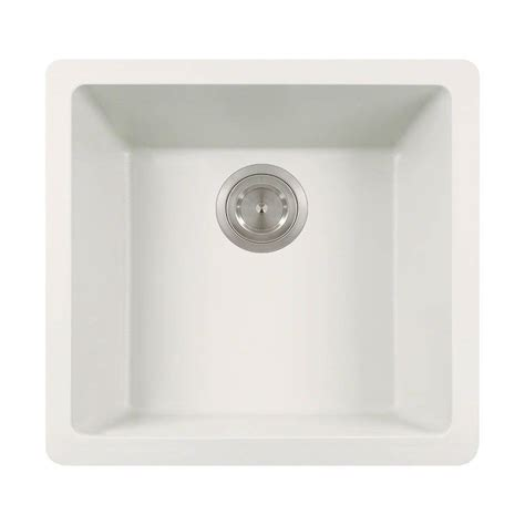 polaris sinks undermount granite 18 in single basin kitchen sink in white p508 white the home