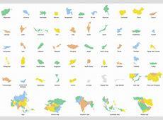Geo Map Asia Turkmenistan