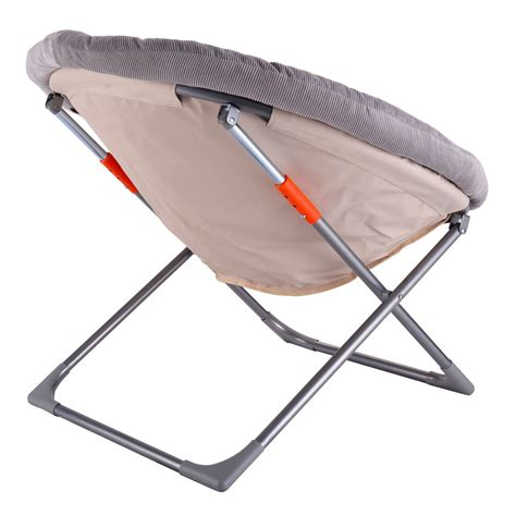 oversized large folding saucer moon chair corduroy seat living room new ebay