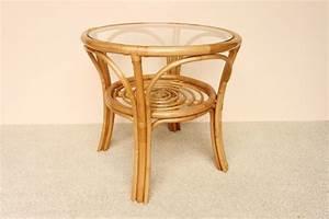 Runder Tisch 70 Cm : tische rattantisch rund mit glasplatte ~ Markanthonyermac.com Haus und Dekorationen
