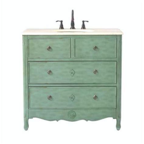 home decorators collection 36 in w vanity in distressed aqua marine with marble vanity top