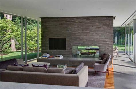 Rectangular Glass House Interior Design Inspiration By