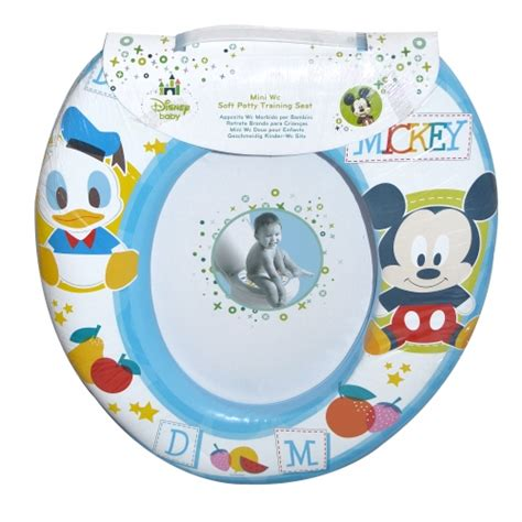 new disney mickey mouse blue padded toilet seat soft