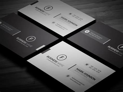 Clean Minimalistic Business Card Template » Free Download