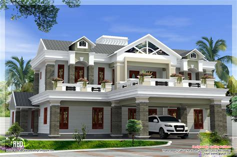 Sloping Roof Mix Luxury Home Design