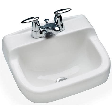 mansfield spruce cove wall mount bathroom sink 4 quot center