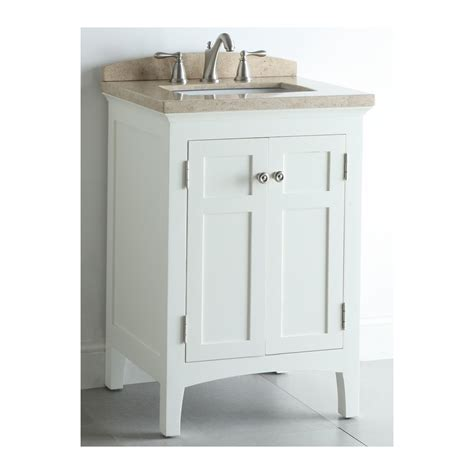shop allen roth windleton white with weathered edges undermount single sink bathroom vanity
