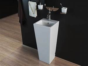 Stand Wc Eckig : design stand waschbecken waschtisch s ule kbe503 ebay ~ Markanthonyermac.com Haus und Dekorationen