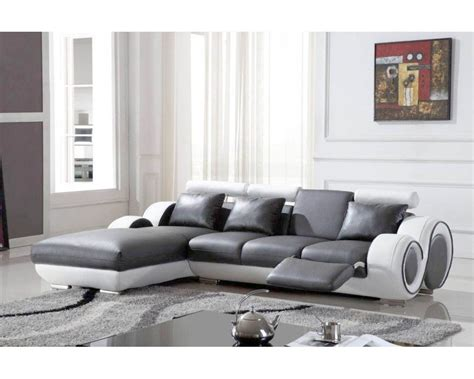 deco in canape d angle avec meridienne gris et blanc oslo angle gauche can 4p