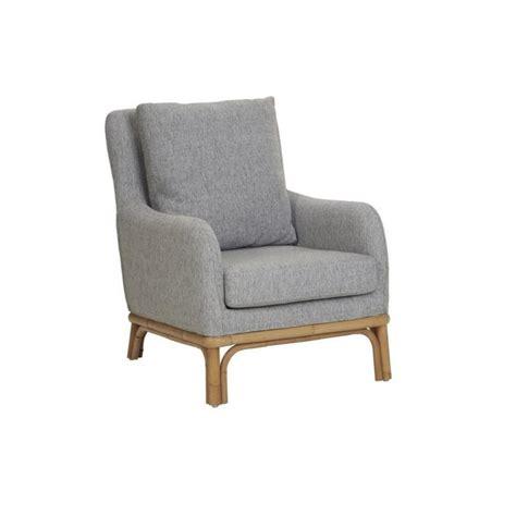 fauteuil 1 place en rotin naturel et tissu kok pier import