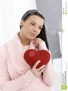 Young woman in love stock photo. Image of home, european ...
