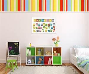 Bilder Fürs Kinderzimmer Leinwand : fr he f rderung die kluge alphabet deko f rs kinderzimmer blog ~ Markanthonyermac.com Haus und Dekorationen