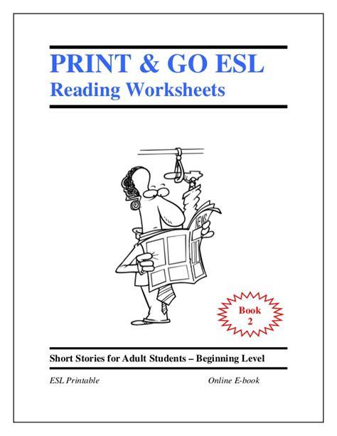 Esl Worksheets Book 2  Short Stories For Adult Students