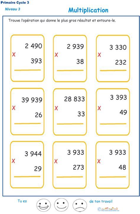 multiplications 224 imprimer pour les 233 l 232 ves de cm1 et cm2 du