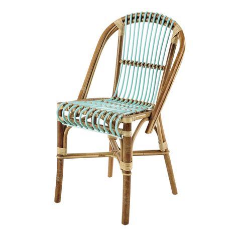 chaise vintage en rotin vert d eau florida maisons du monde