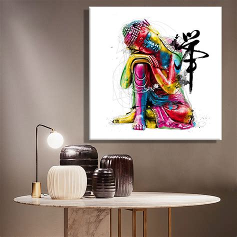 aliexpress buy paintings canvas colorful buddha