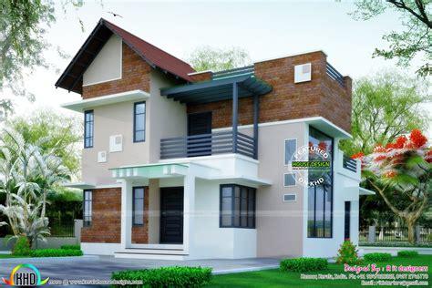 Brick Wall Mix Modern House Plan